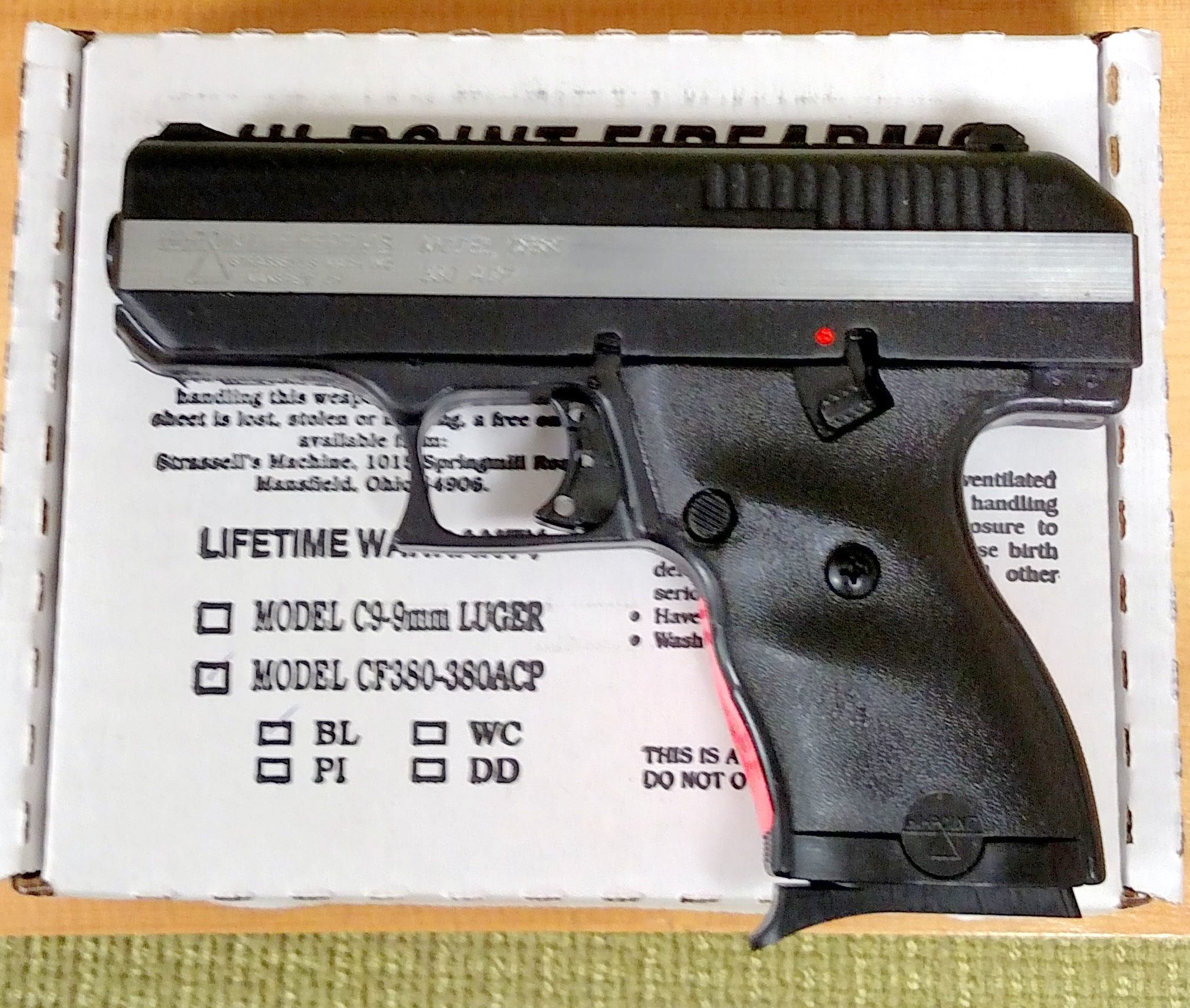 Hi point 380 for sale - Brand New Hi Point 380 Semi Automatic Pistol W Ghost Ring Sight