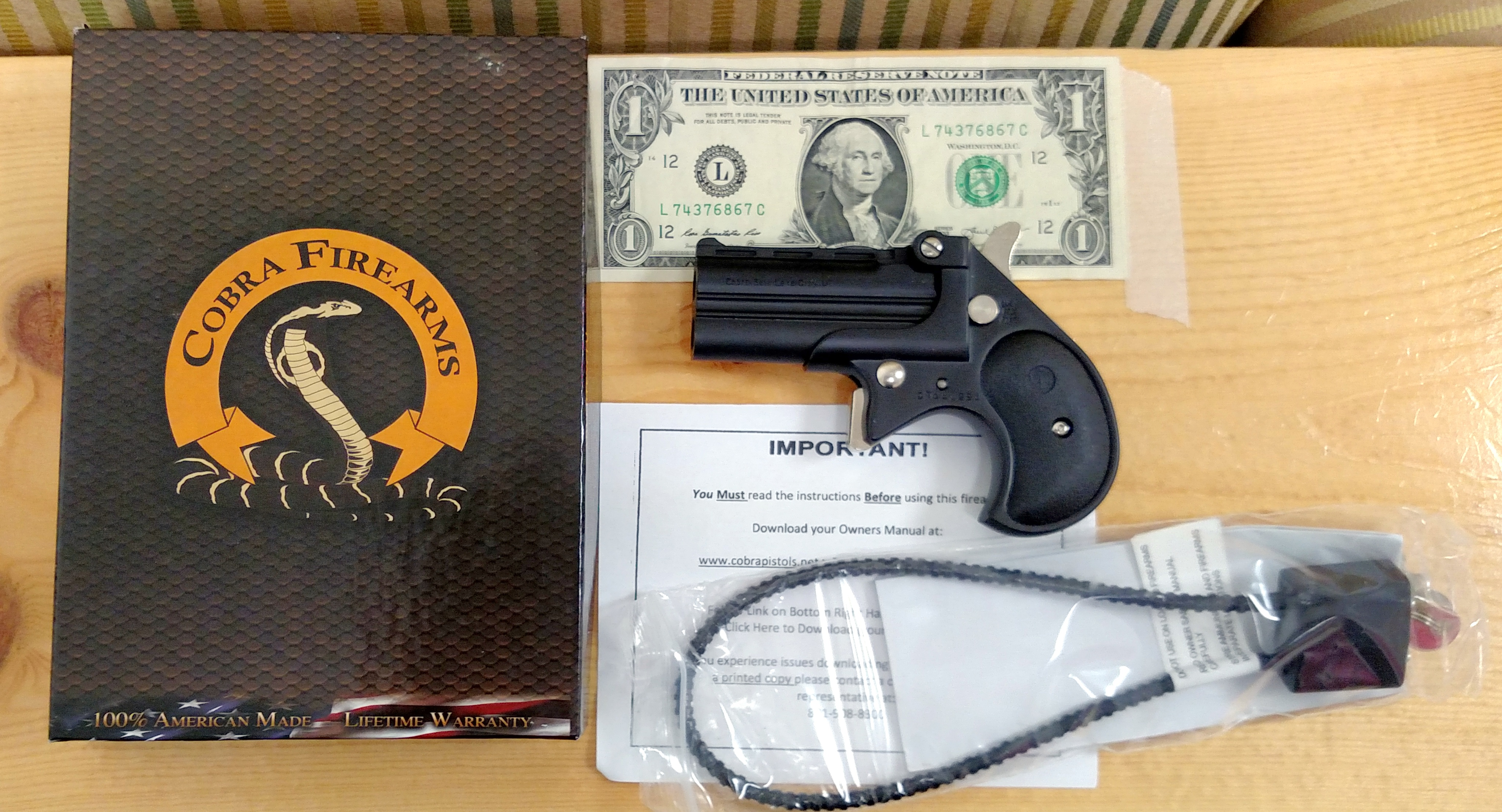 brand spanking new cobra all black 9mm cobra double barrel derringer rh egunner com Cobra Derringer 22 Magnum Holster Cobra Derringer Pearl Grips