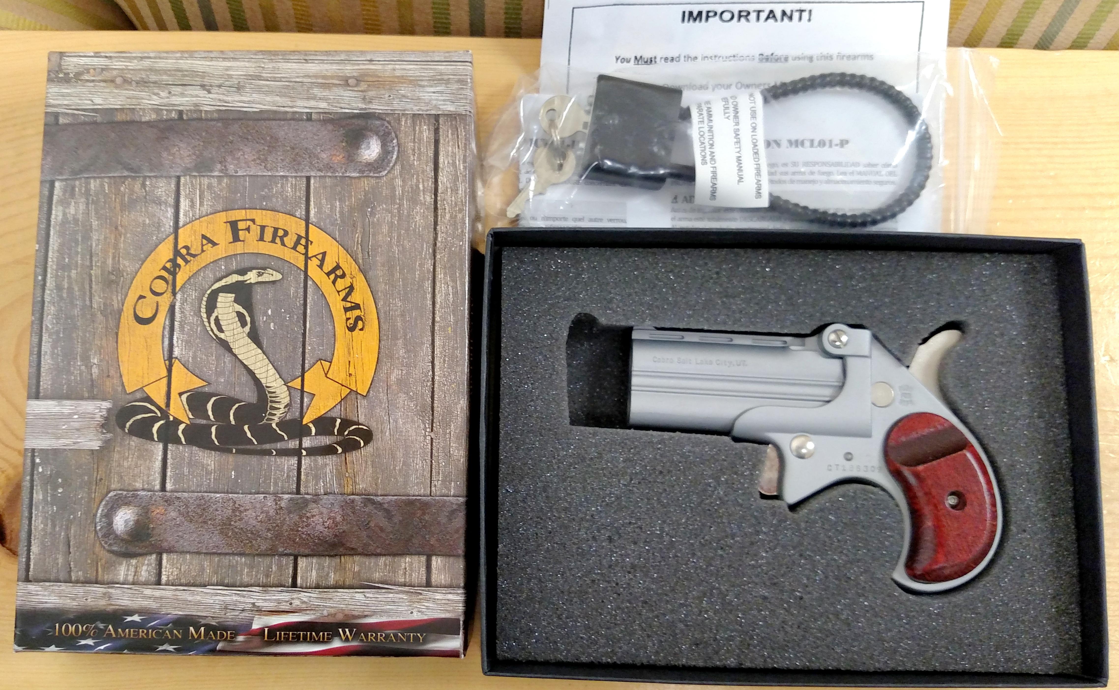 brand spanking new cobra satin 9mm cobra double barrel derringer w rh egunner com Cobra Derringer 38 Special cobra derringer disassembly