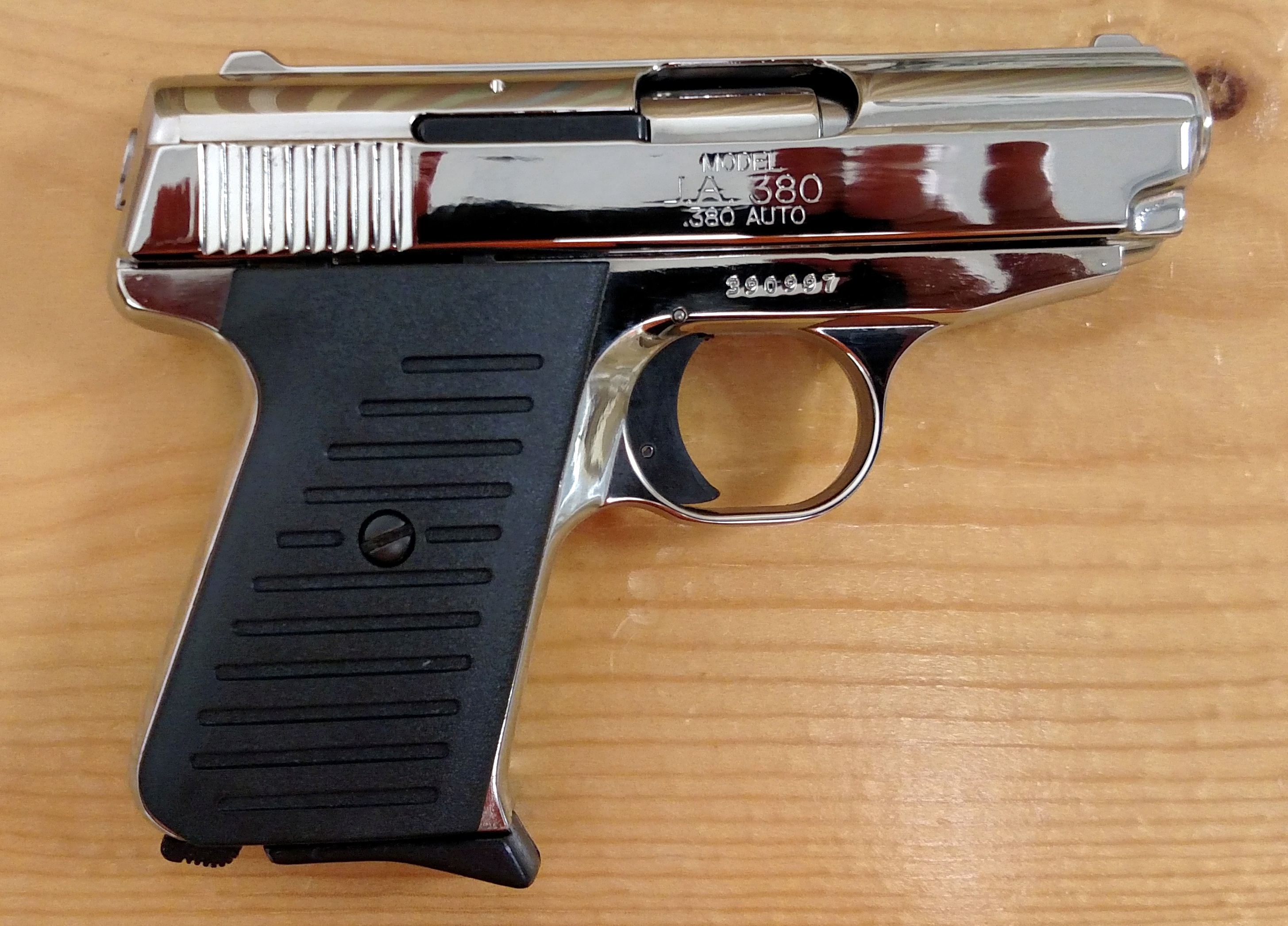Brand NEW compact Jimenez Arms J A 380 highly polished