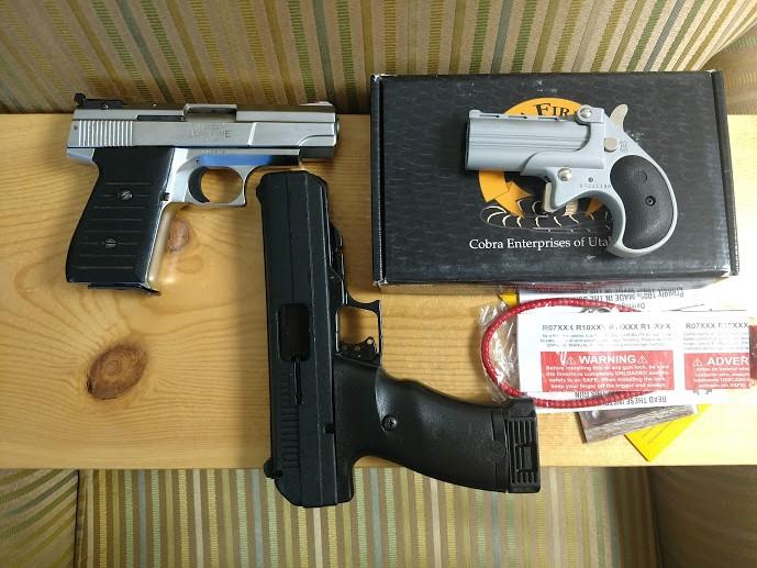 Two pistol deal - Hi-point 45acp JHp pistol, Jimenez Arms