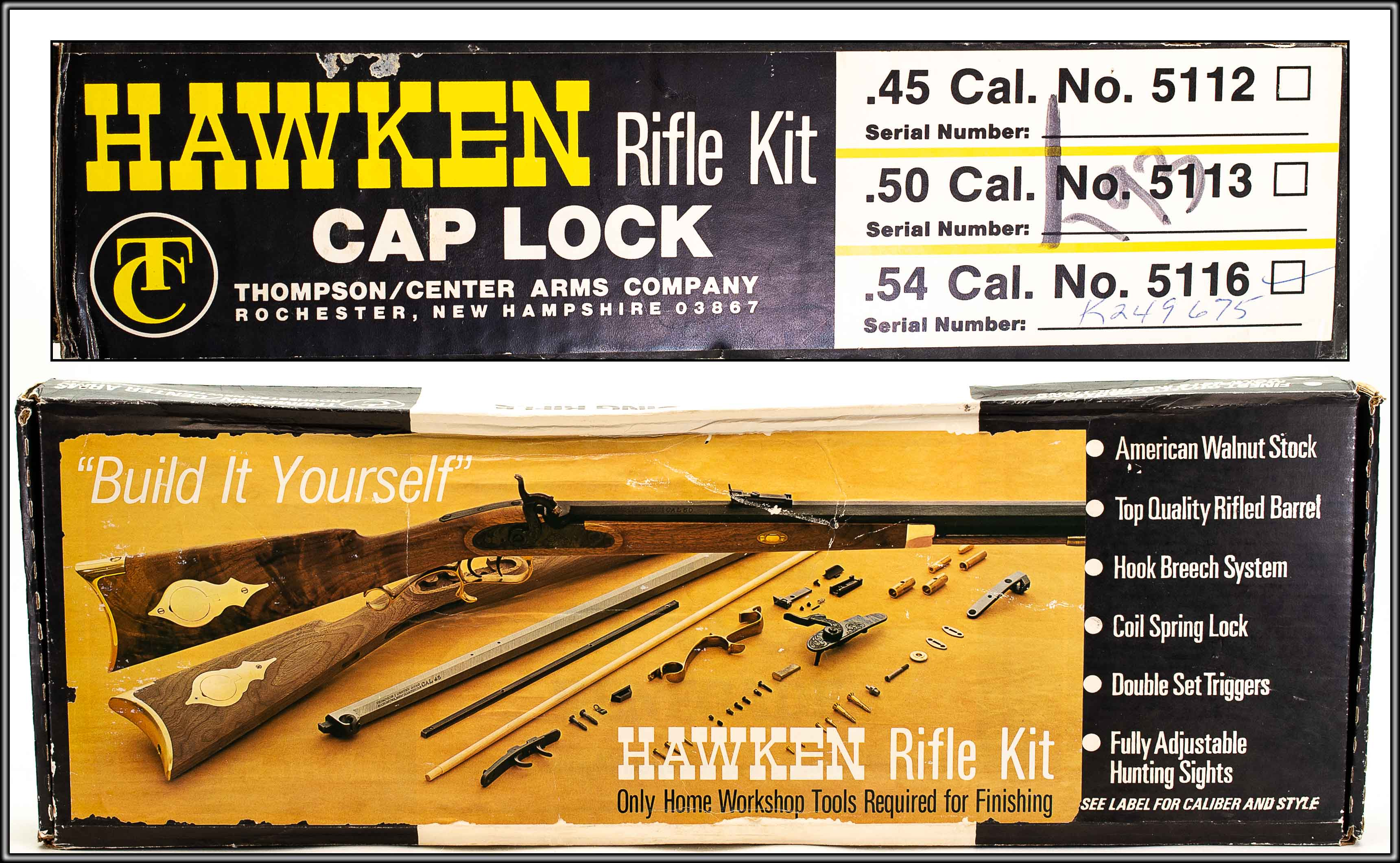 THOMPSON CENTER 50 CALIBER HAWKEN KIT [50 Caliber] (Auction ID