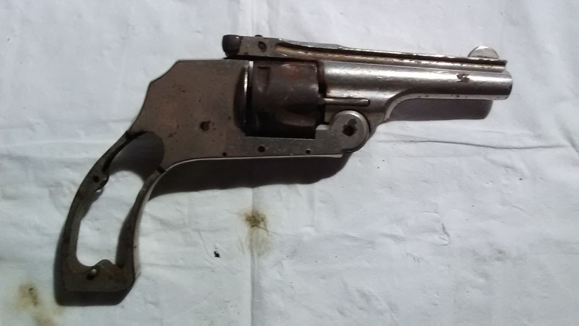 Hopkins Allen 32 Cal Top Break Revolver Parts Gun Auction Id