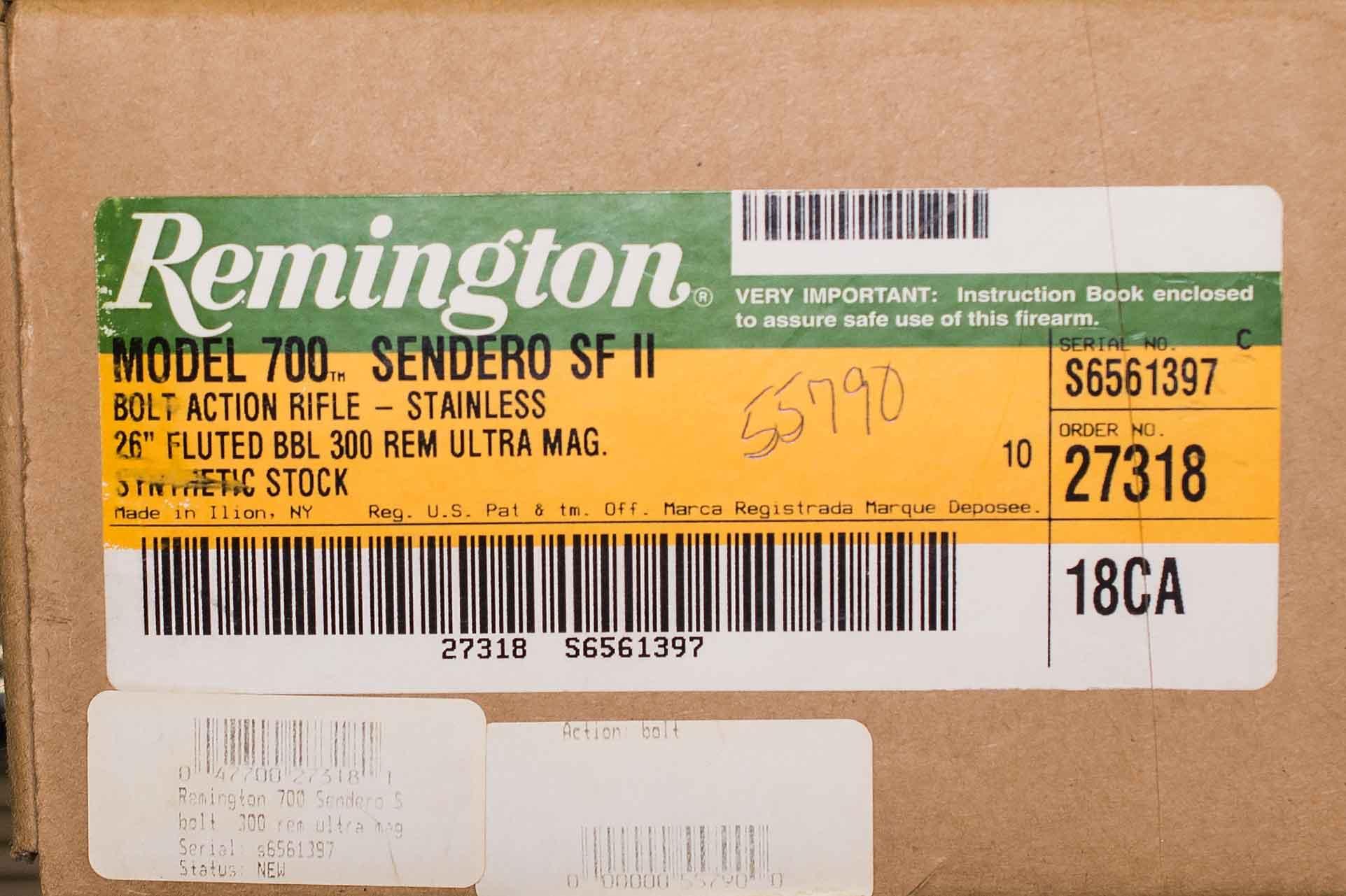 REMINGTON MODEL 700 SENDERO SF II (Auction ID: 11296681, End