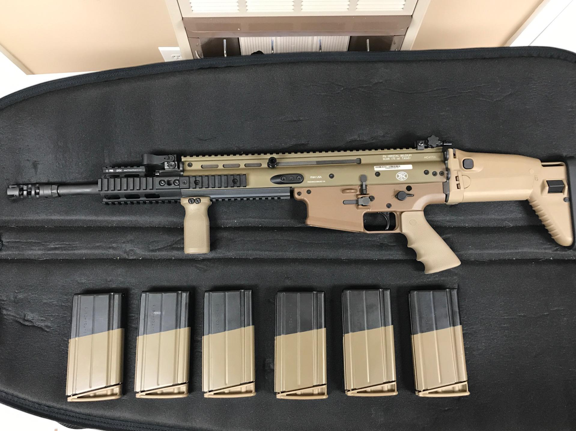 FN SCAR 17s w/ Upgrades - Geissele, Rail Extension (Auction