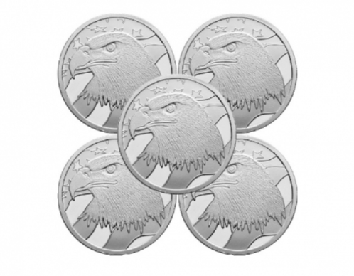 Pledge of Allegiance 1oz .999 Silver Medallion 5pc