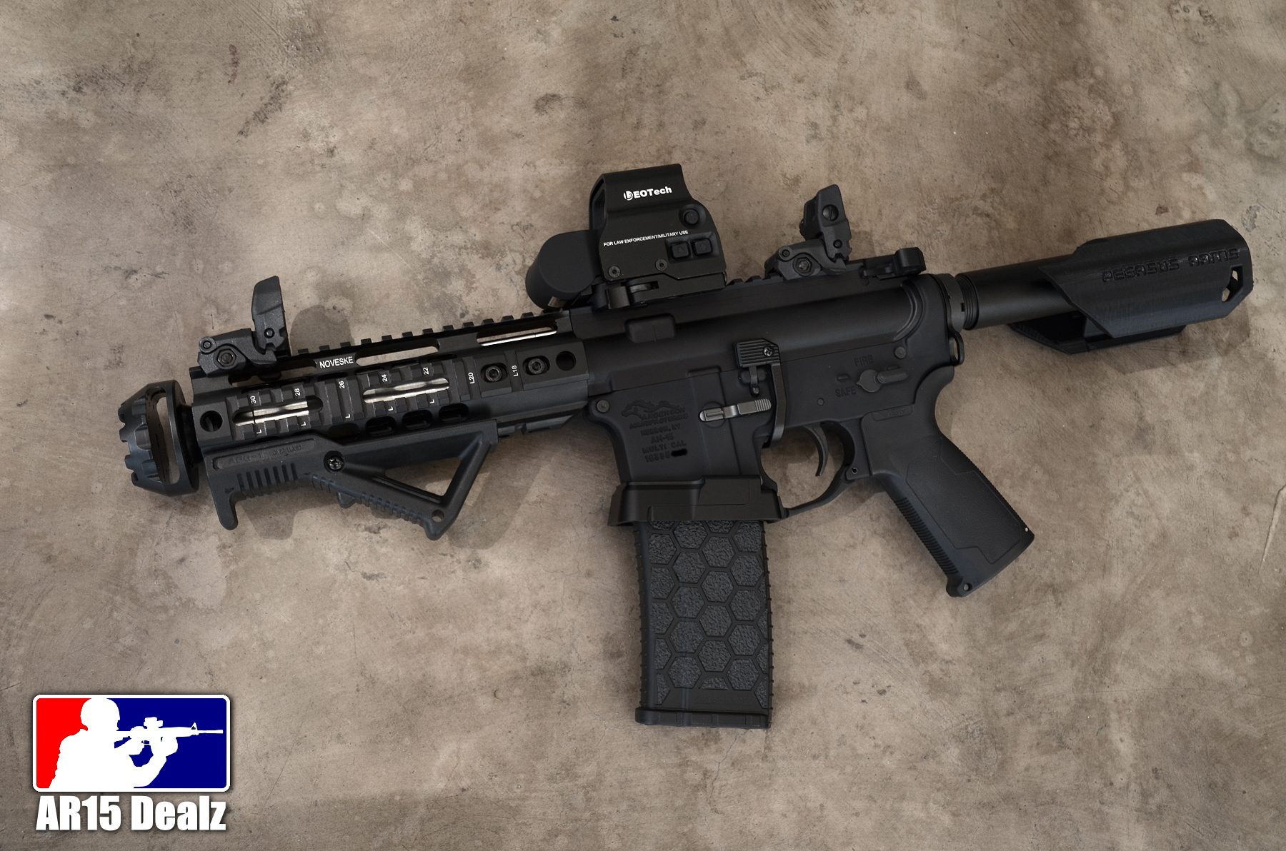 Custom Ar15 Pistol Fully Decked Out Ar 15 223 556 Noveske