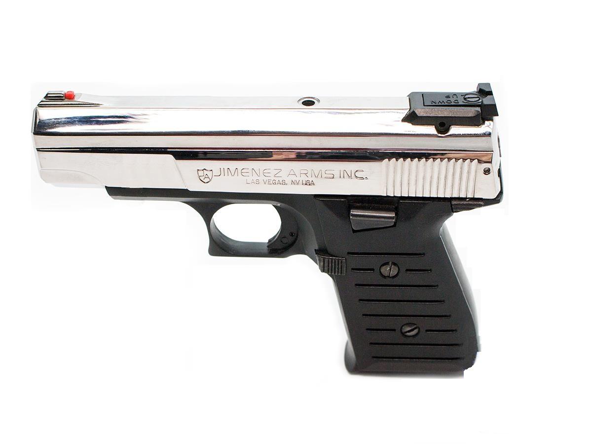 Jimenez JA-Nine 9mm 2-Tone 9 mm Luger 2-Mags Black w/Polished Chrome
